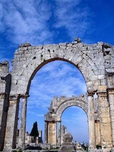 Arches of Qala'At Samaan, Ruined Basilica Built Around Pillar of St. Simeon, Halab, Syria by Tony Wheeler