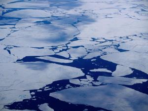 Artic Ice Floes, Nunavut, Canada by Tony Wheeler