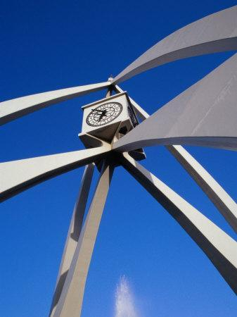 Clock Tower on Corniche Roundabout, Dubai, United Arab Emirates