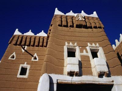 Exterior of Traditional Mud Najran Fort, Najran, Asir, Saudi Arabia