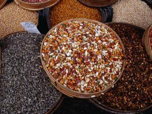 Legumes, Seeds and Nuts for Sale at Souq, Damascus, Rif Dimashq, Syria by Tony Wheeler