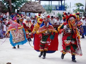 Street Performance of Palapas, Jaranas and Music, Flores, El Peten, Guatemala by Tony Wheeler