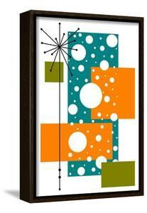 Lacuna - Aqua and Orange by Tonya Newton