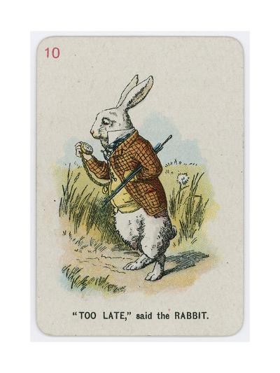 Too Late, Said the Rabbit-John Tenniel-Giclee Print