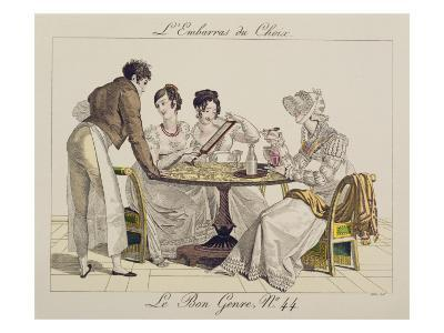 Too Much Choice Plate 44 From Le Bon Genre 1827 Giclee Print By