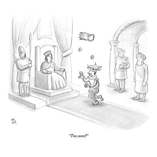 """Too soon?"" - New Yorker Cartoon-Paul Noth-Premium Giclee Print"