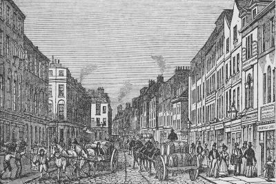 Tooley Street in the First Half of the Nineteenth Century, c1840, (1912)--Giclee Print