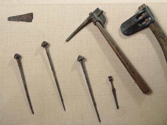 Tools, Axes and Iron Nails from Mari, Syria--Giclee Print