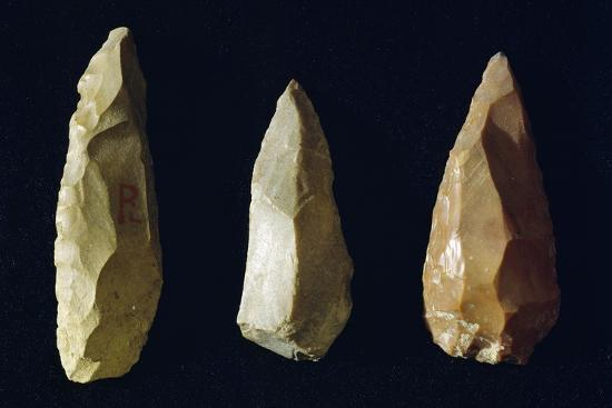 Tools Made of Flint, Italy, Neolithic Era--Giclee Print