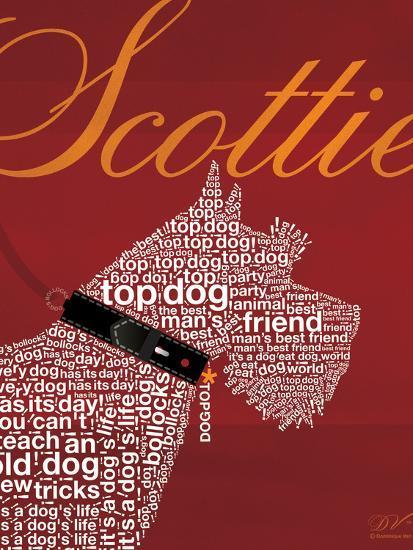 Top Dog Scottie-Dominique Vari-Art Print