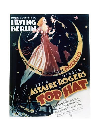 Top Hat - Movie Poster Reproduction--Art Print