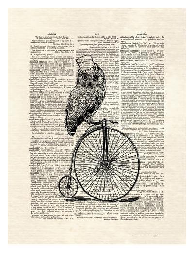 Top Hat Owl-Matt Dinniman-Art Print