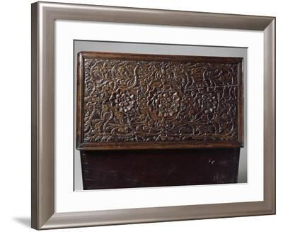 Top of Finely Carved Walnut Trunk, France, Early 17th Century--Framed Giclee Print