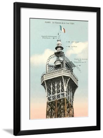 Top of the Eiffel Tower--Framed Art Print