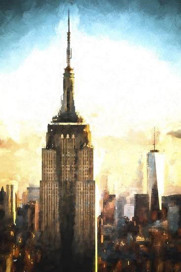 Top of the Empire State Building at Sunset II-Philippe Hugonnard-Giclee Print