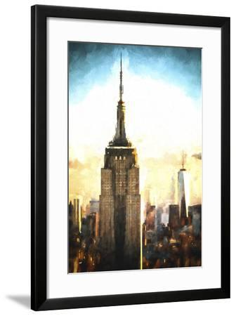 Top of the Empire State Building at Sunset II-Philippe Hugonnard-Framed Giclee Print