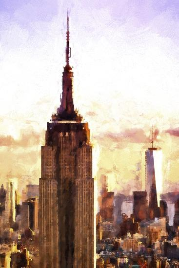 Top of the Empire State Building at Sunset-Philippe Hugonnard-Giclee Print