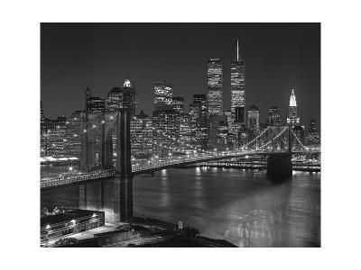 Top View Brooklyn Bridge - New York City Icons-Henri Silberman-Premium Photographic Print