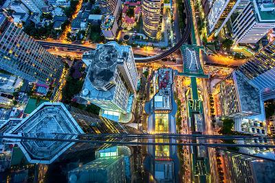 Top View of Bangkok , Thailand-Thanapol Tontinikorn-Photographic Print