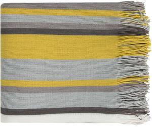 Topanga Throw - Light Gray/Lemon
