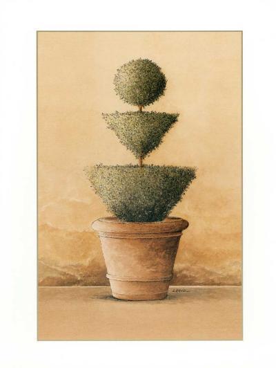 Topiaire IV-Laurence David-Art Print