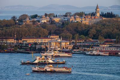 Topkapi Palace and Ferries, Istanbul, Turkey-Ali Kabas-Photographic Print