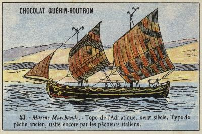 Topo, Fishing Boat Used in the Adriatic, 18th Century--Giclee Print