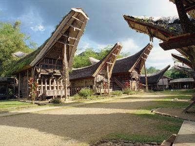 Toraja Houses and Granaries, Toraja Area, Sulawesi, Indonesia, Southeast Asia-Harding Robert-Photographic Print