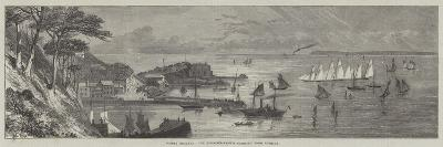 Torbay Regatta, the Schooner-Yachts Starting from Torquay-Edmund Morison Wimperis-Giclee Print