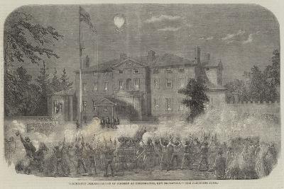 Torchlight Demonstration of Firemen at Fredericton, New Brunswick--Giclee Print