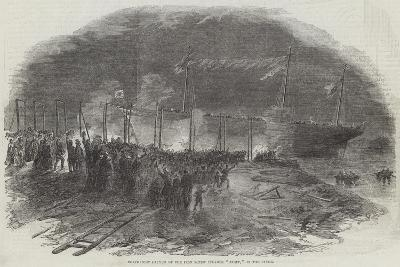 Torchlight Launch of the Iron Screw Steamer Azoff, in the Clyde--Giclee Print