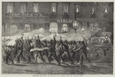 Torchlight Procession of the New York Firemen--Giclee Print