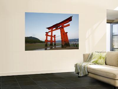 Torii at Low Tide, Itsukushima Shine-Damien Douxchamps-Wall Mural