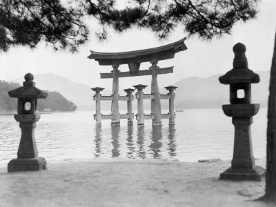 Torii Gate in Water--Photographic Print