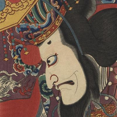 Detail of Two Kabuki Actors