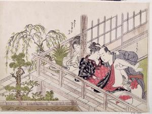A 'Shunga', C.1785 by Torii Kiyonaga