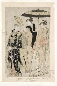Actors in the Play Oakinai Hiruga Kojima, Nakamura Theater, Xi/1784, 1784 by Torii Kiyonaga