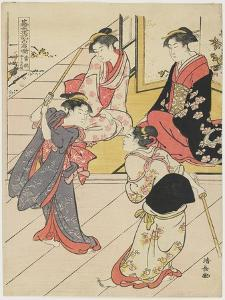 At Jo Etsu's Mansion, 1785 by Torii Kiyonaga
