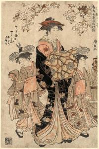 Chojiya Uchi Chozan, the Courtesan Chozan of Chojiya,1783 by Torii Kiyonaga