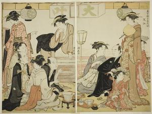 Entertainers of Nakazu, C.1784 by Torii Kiyonaga