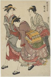 Entertainers of Tachibana-Cho, 1782 by Torii Kiyonaga