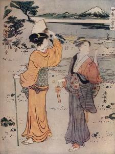 Girls on the Seashore, c17th century, (1914) by Torii Kiyonaga