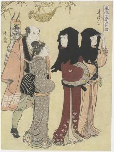 January, C. 1784 by Torii Kiyonaga