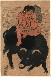 Kintaro No Yatsushi Kusakari Sanro[?] by Torii Kiyonaga