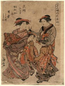 Kyomachi Nichome Kirihishiya Uchi Manyo by Torii Kiyonaga