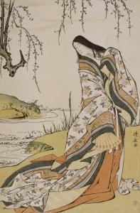 La poétesse Ono no Komachi by Torii Kiyonaga