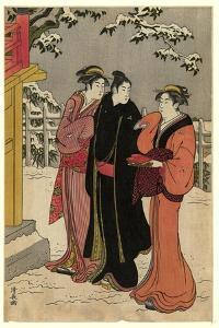 Matsuchiyama No Yukimi by Torii Kiyonaga