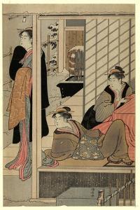 Niwa No Yukimi by Torii Kiyonaga