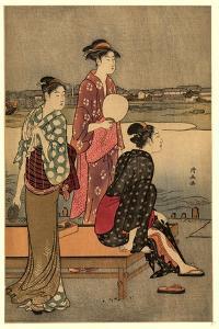 Okawabata Yuryo by Torii Kiyonaga