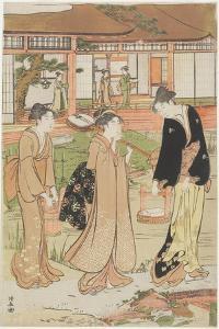 Picnic in a Daimyo's Garden, 1786 by Torii Kiyonaga